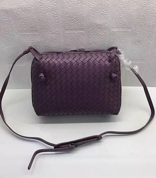 Bottega Veneta Purple Leather Small Woven Bag