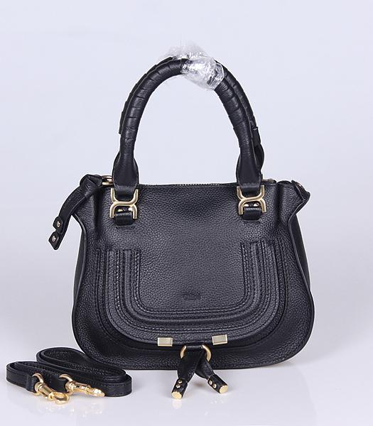 Chloe Hot-sale Black Leather Small Tote Bag