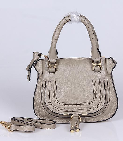 Chloe Hot-sale Light Grey Leather Small Tote Bag