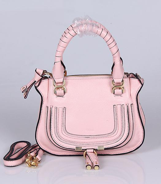 Chloe Hot-sale Pink Leather Small Tote Bag