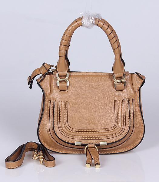 Chloe Hot-sale Apricot Leather Small Tote Bag