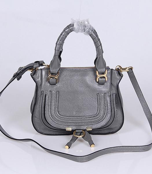 Chloe Hot-sale Dark Grey Leather Small Tote Bag