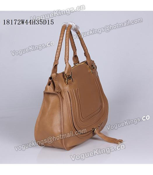Chloe Marcie Apricot Leather Large Tote Bag-1