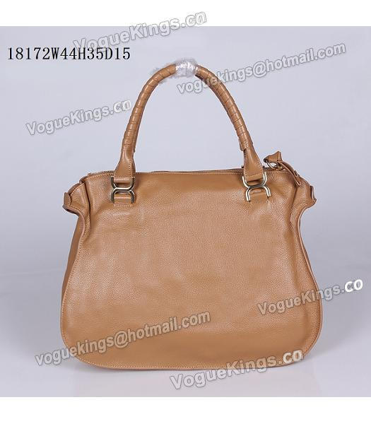 Chloe Marcie Apricot Leather Large Tote Bag-2