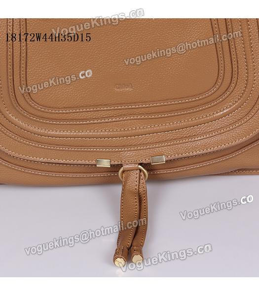 Chloe Marcie Apricot Leather Large Tote Bag-6