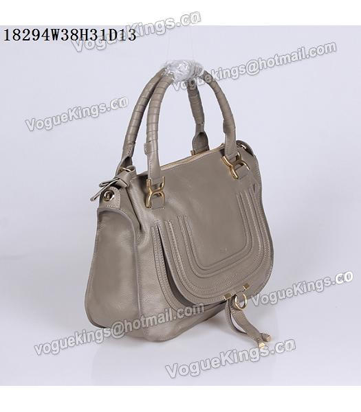 Chloe Latest Design Grey Leather Tote Bag-1