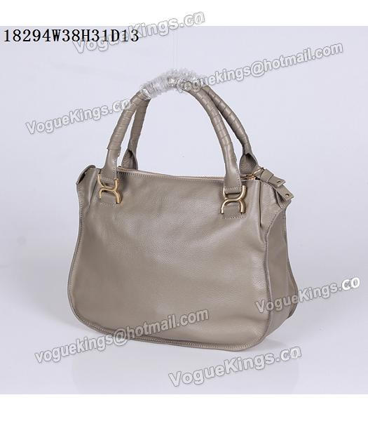 Chloe Latest Design Grey Leather Tote Bag-2