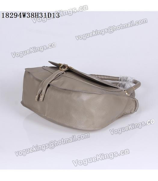 Chloe Latest Design Grey Leather Tote Bag-5