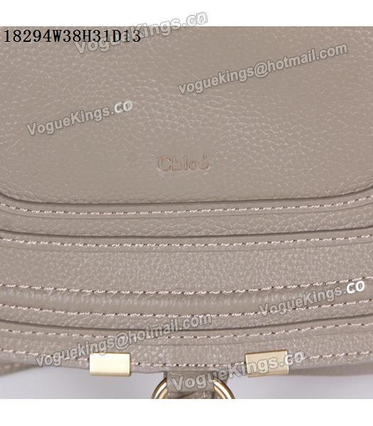 Chloe Latest Design Grey Leather Tote Bag-6