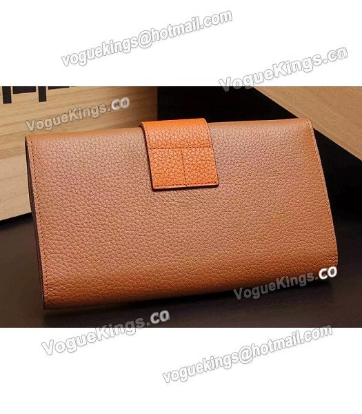 Hermes Latest Design Leather Fashion Clutch Earth Yellow_2