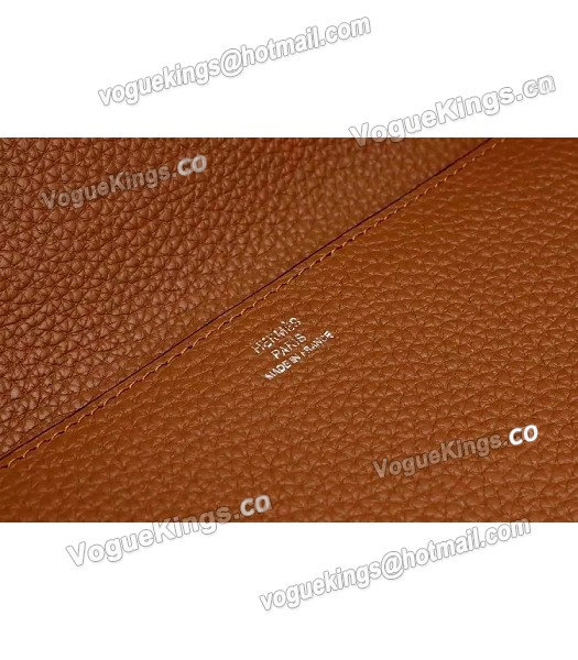 Hermes Latest Design Leather Fashion Clutch Earth Yellow_5