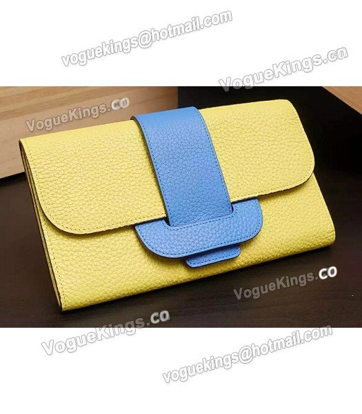 Hermes Latest Design Leather Fashion Clutch Yellow_1