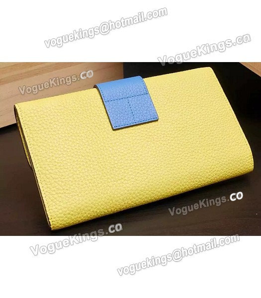 Hermes Latest Design Leather Fashion Clutch Yellow_2