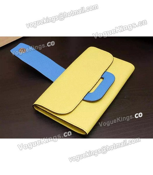 Hermes Latest Design Leather Fashion Clutch Yellow_3