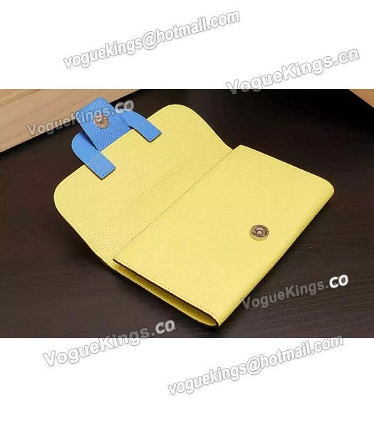 Hermes Latest Design Leather Fashion Clutch Yellow_4