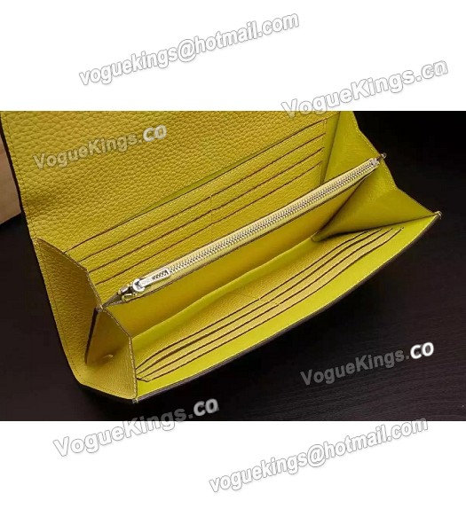 Hermes Latest Design Leather Fashion Clutch Yellow_5