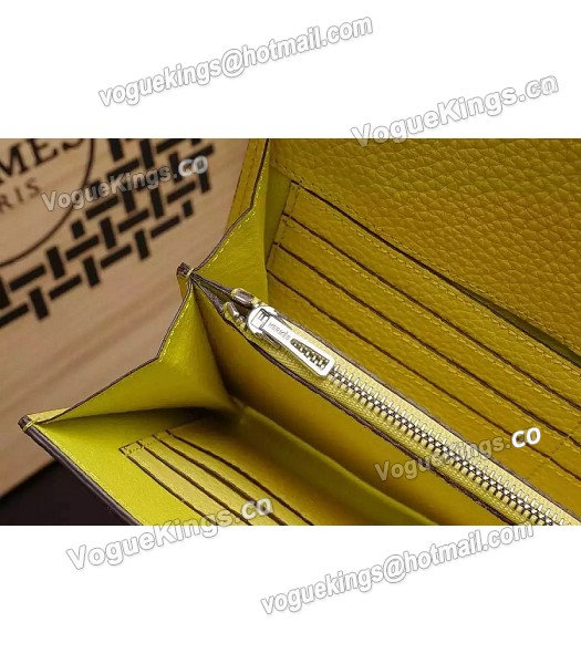 Hermes Latest Design Leather Fashion Clutch Yellow_6