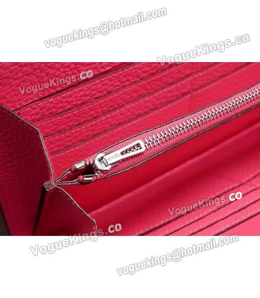 Hermes Latest Design Leather Fashion Clutch Rose Red_6