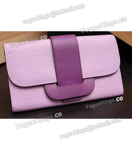 Hermes Latest Design Leather Fashion Clutch Pink-1