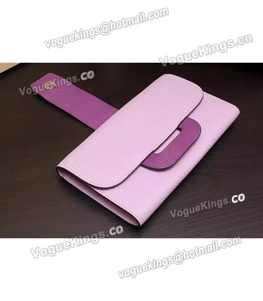 Hermes Latest Design Leather Fashion Clutch Pink-4