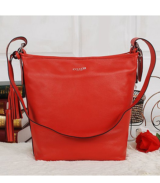 Coach 19889 Red Calfskin Leather Duffle Bag