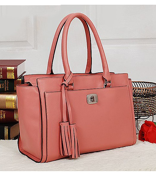 Coach 25359 Legacy Leather Chelsea Carryall Tote Bag Peach Red