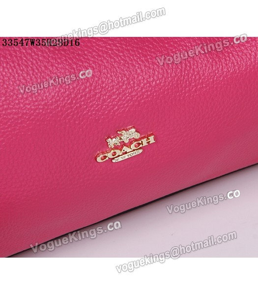 Coach Rose Red Edie Pebbled Leather Shoulder Bag 33547_5