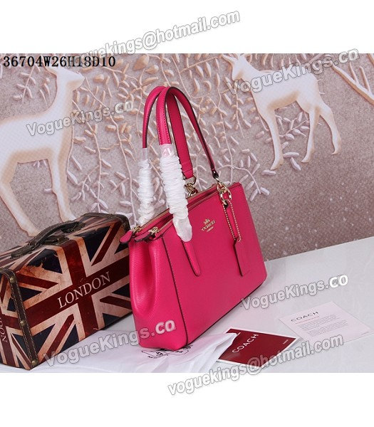 Coach Crossgrain Leather Mini Christie Carryall 36704 Rose Red-1