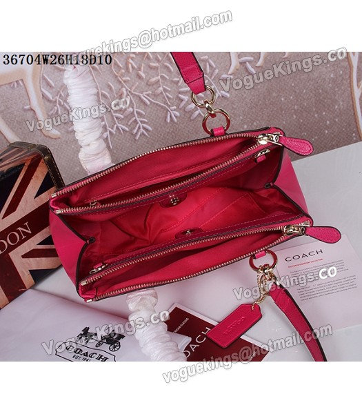 Coach Crossgrain Leather Mini Christie Carryall 36704 Rose Red-3