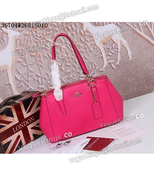 Coach Crossgrain Leather Mini Christie Carryall 36704 Rose Red-4