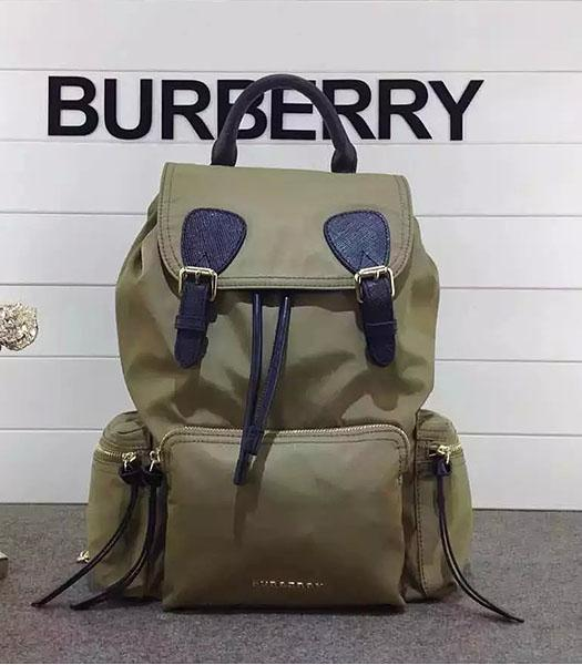 Burberry Trench Calfskin Leather The Rucksack Backpack Khaki