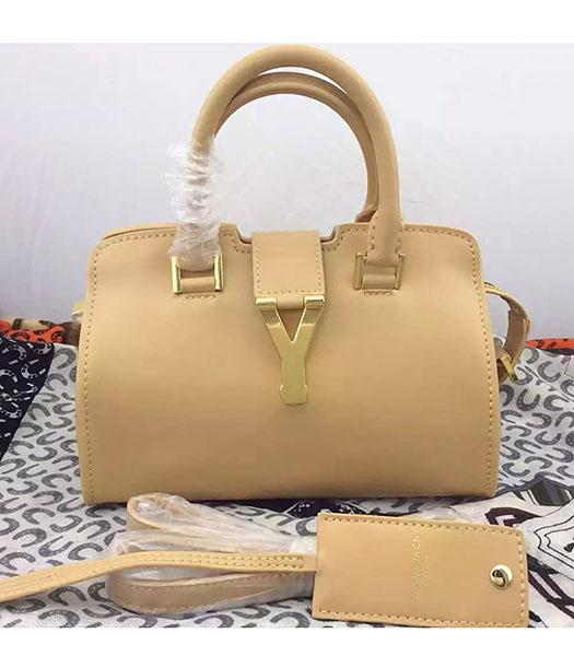 Yves Saint Laurent Cabas Chyc Beige Leather Small Tote Bag