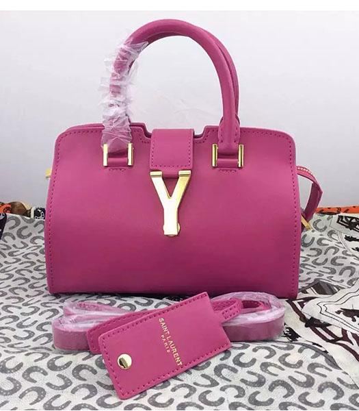 Yves Saint Laurent Cabas Chyc Fuchsia Leather Small Tote Bag