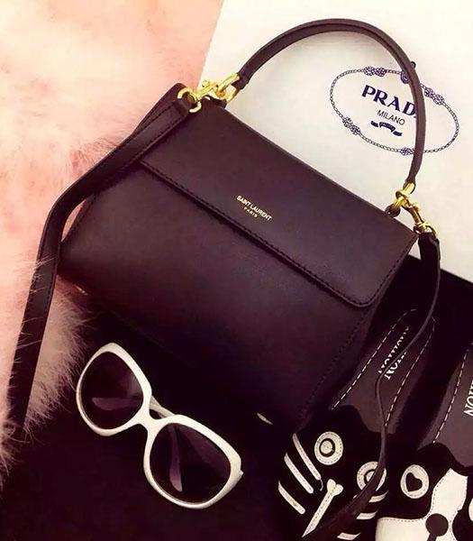Yves Saint Laurent Black Leather Small Tote Bag