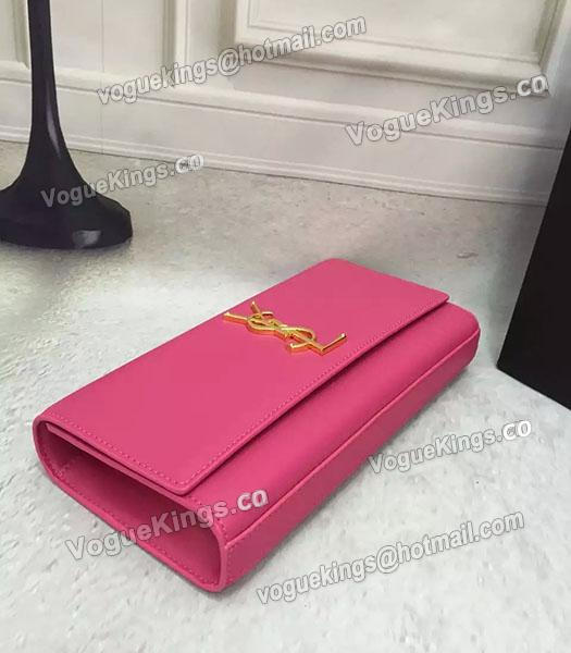 YSL Rose Red Original Calfskin Leather 28cm Clutch-2