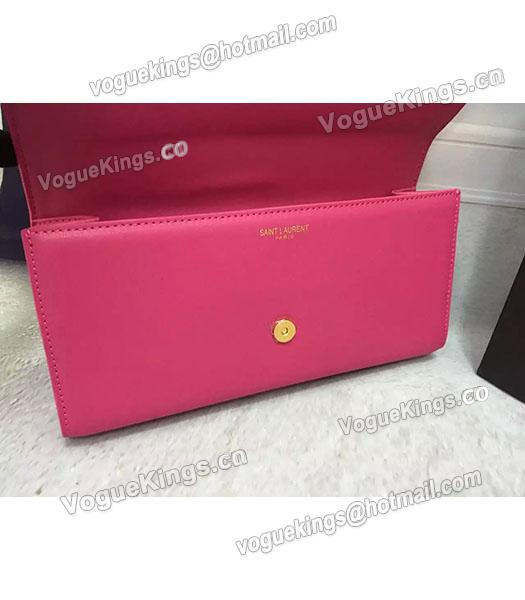 YSL Rose Red Original Calfskin Leather 28cm Clutch-4
