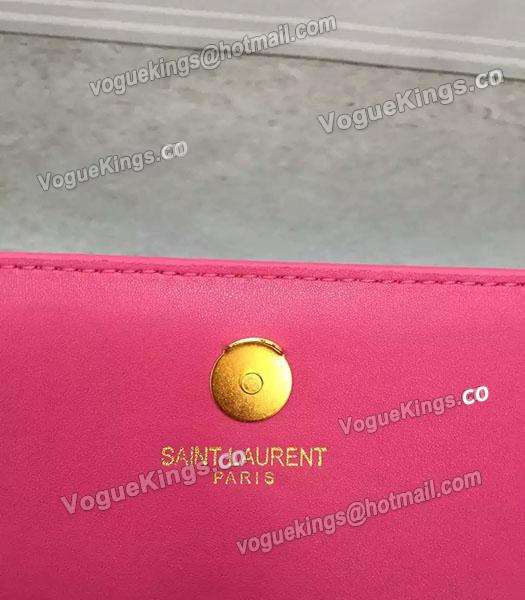 YSL Rose Red Original Calfskin Leather 28cm Clutch-5