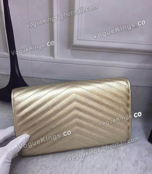YSL Gold Original Calfskin Leather 23cm Shoulder Bag Golden Chain_3