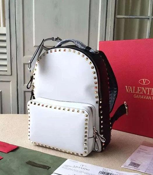 Valentino Rockstud Small Backpack Black Original Leather Golden Nail