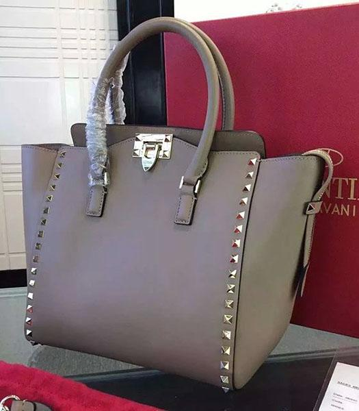 Valentino Rockstud Tote Bag Apricot Original Leather Golden Nail