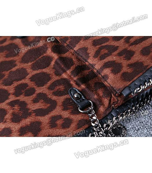 Stella McCartney Mini PVC Leopard Pattern Coffee Crossbody Bag Silver Chain-5