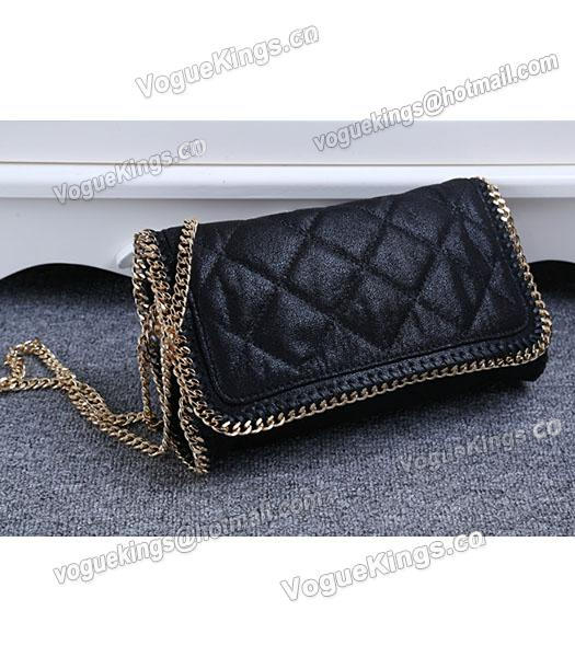 Stella McCartney Falabella Quilted Black Mini Crossbody Bag Gold Chain-1