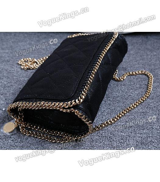 Stella McCartney Falabella Quilted Black Mini Crossbody Bag Gold Chain-2