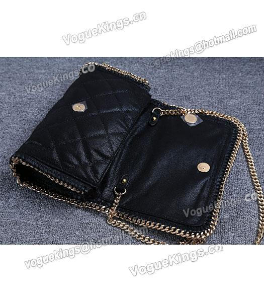 Stella McCartney Falabella Quilted Black Mini Crossbody Bag Gold Chain-3