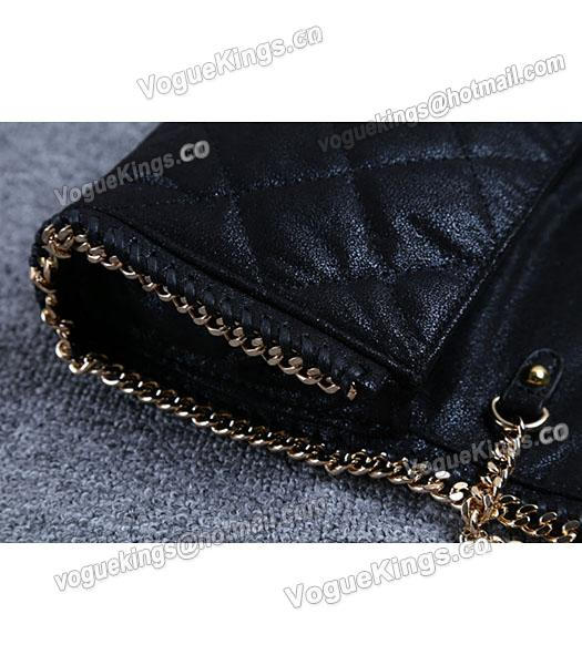 Stella McCartney Falabella Quilted Black Mini Crossbody Bag Gold Chain-4
