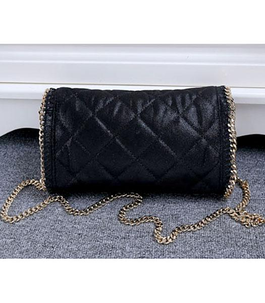 Stella McCartney Falabella Quilted Black Mini Crossbody Bag Gold Chain