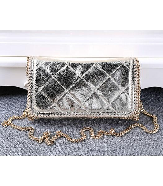 Stella McCartney Falabella Quilted PVC Light Gold Mini Crossbody Bag Gold Chain
