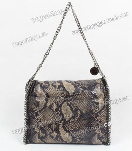 Stella McCartney Falabella PVC Coffee Snake Shoulder Bag Silver Chain_2