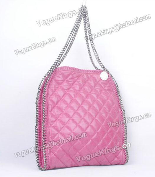 Stella McCartney Falabella S-811-1 PVC Rose Red Quilted Hobo Bag_1