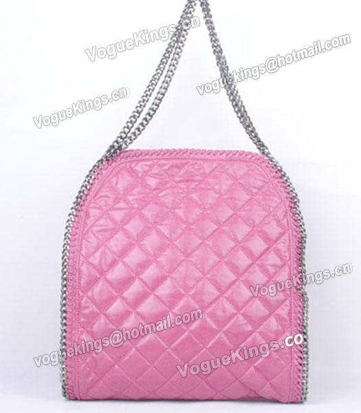 Stella McCartney Falabella S-811-1 PVC Rose Red Quilted Hobo Bag_2